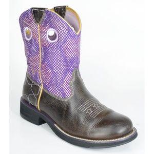 Ariat FatBaby Purple Starstuck Western Boots